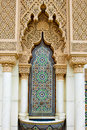 Morrocan facade architecture of a building characterized by fine moroccan styled woodcarvings at putrajaya malaysia Royalty Free Stock Images