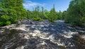 Morrum river cascades in summer season Royalty Free Stock Photos