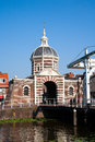 Morspoort city gate the in leiden the netherlands Stock Image