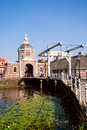Morspoort city gate the in leiden the netherlands Stock Photography