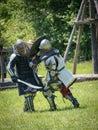 Mortal battle at medieval festival the upper canada village near morrisburg ontario canada Stock Photos