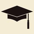 Mortar board or graduation cap education symbol Stock Photo