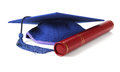 Mortar Board and Scroll Holder Royalty Free Stock Photo