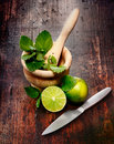 Mortar and Limes Royalty Free Stock Image