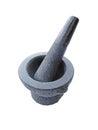 Mortar pestle isolate on white blackground Stock Photos
