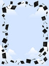 Mortarboard frame Stock Photography