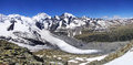 Morteratsch and Pers glaciers from Munt Pers 3207m. Royalty Free Stock Photo