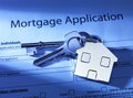 Mortgage application with a blue hue Stock Images