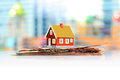 Mortgage house concept Royalty Free Stock Photo