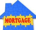 Mortgage House Shows Home Purchase Loan Royalty Free Stock Photo