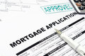 Mortgage loan application form and pen Stock Photos