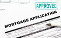 Mortgage loan application form and pen Royalty Free Stock Photography