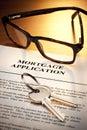 Mortgage Loan Application Keys Royalty Free Stock Photo