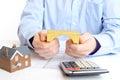 Mortgage loan Royalty Free Stock Photo