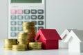 Mortgage loan calculator Royalty Free Stock Photo