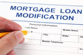 Mortgage Loan Modification application form Royalty Free Stock Photo