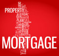 Mortgage word cloud illustration Royalty Free Stock Image
