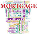 Mortgage wordcloud Royalty Free Stock Image