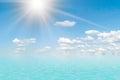 Morze krajobraz i clouds.2 Fotografia Stock
