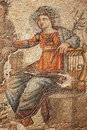 Mosaic of apollo from the th century roman and marsyas at the house aion paphos archaeological park cyprus Stock Photo