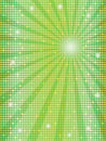 Mosaic background with rays green abstract Royalty Free Stock Photo