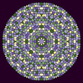 Mosaic background in a round shape