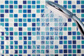 Mosaic in the bathroom Royalty Free Stock Photo