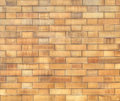 Mosaic brick wall constructed with block Royalty Free Stock Photo