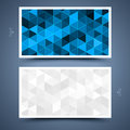 Mosaic business card template front and back Royalty Free Stock Images