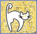 Mosaic cat Royalty Free Stock Image