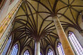 Mosaic celing ceiling inside a cathedral in toulouse france Royalty Free Stock Image