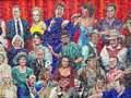 Mosaic Clusters of Famous Australian People