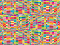 Mosaic color matrix op art Stock Photo
