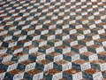 Mosaic in delos greece mosaics on the floor on ancient island near mykonos Royalty Free Stock Images