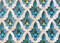 Mosaic detail hassan ii mosque casablanca of the decorations of in morocco Royalty Free Stock Photography
