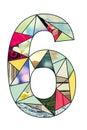 Mosaic digit 6