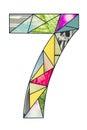 Mosaic digit 7