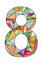 Mosaic digit 8