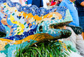 The mosaic dragon in Barcelona at park Guell Royalty Free Stock Photos