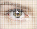 Mosaic of eye circles background Stock Photography