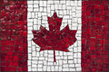 Mosaic flag of canada old close up Stock Photo
