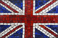 Mosaic flag of great britain or united kingdom old close up Royalty Free Stock Photo