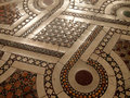 Mosaic floor ancient in a roman church italy Royalty Free Stock Photos