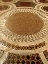 Mosaic floor ancient in a roman church italy Stock Photo