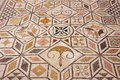 Mosaic floor in the Roman ruin Italica. Stock Photo