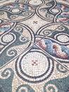 Mosaic floor tiles in Cheshire, England.