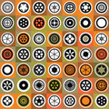 Mosaic gear Royalty Free Stock Photo