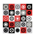 Mosaic of gear Royalty Free Stock Photo