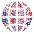 Shopping Composition of Mosaic Globe Icon