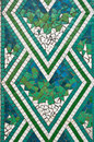 Mosaic; green, blue and white Royalty Free Stock Photo